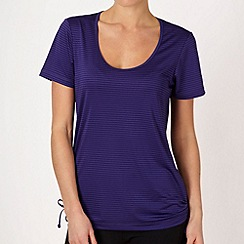 XPG by Jenni Falconer - Dark purple textured striped training t-shirt