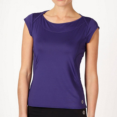 XPG by Jenni Falconer - Dark purple cap sleeved training top