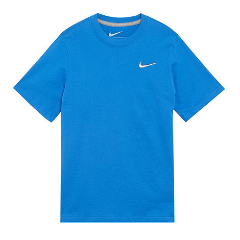 Nike - Boy+s blue logo-embroidered t-shirt