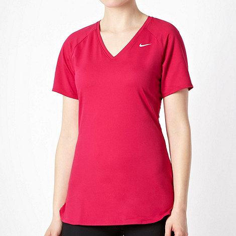 Nike - Dark pink V neck t-shirt