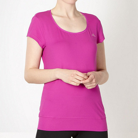 adidas - Purple scoop neck t-shirt
