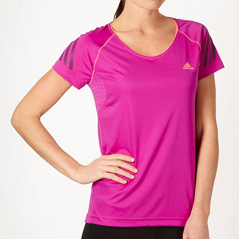 adidas - Light purple keyhole neck training t-shirt