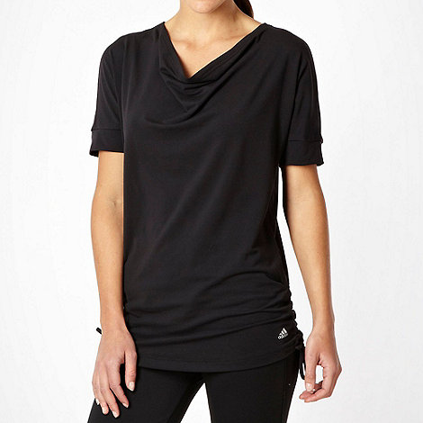 adidas - Black +Performance+ cowl neck tunic