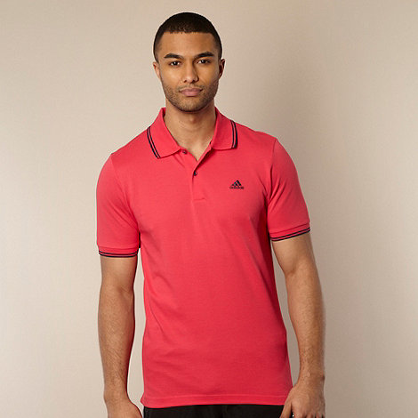 adidas - Pink tipped polo shirt