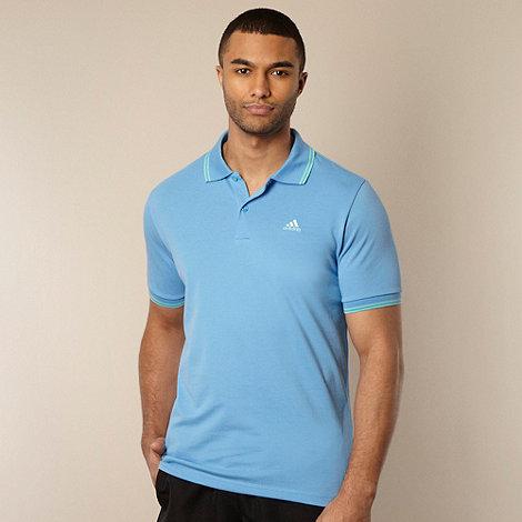 adidas - Light blue +Essential+ pique polo shirt