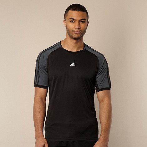 adidas - Black textured t-shirt