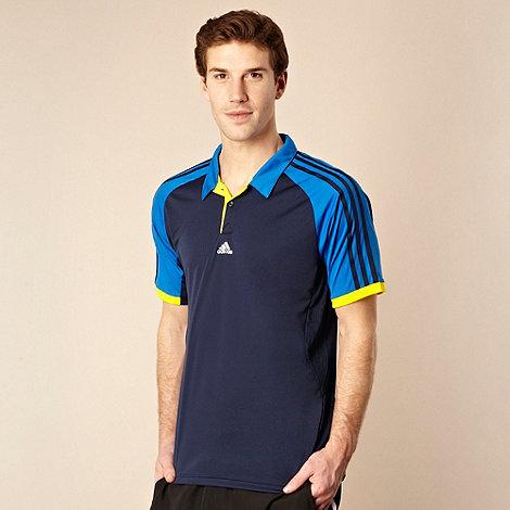 adidas - Dark blue panel +ClimaCool+ polo shirt
