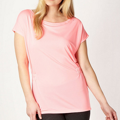 Elle Sport - Pink perforated loose fitting top