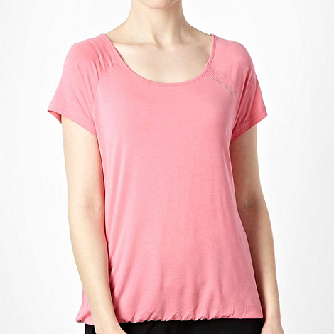 Elle Sport - Dark pink relaxed fitting sports t-shirt