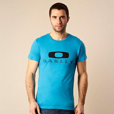 Oakley - Blue applique printed t-shirt