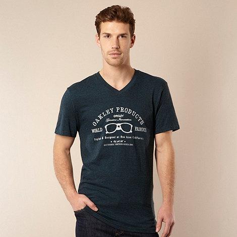 Oakley - Dark blue +World Famous+ logo t-shirt