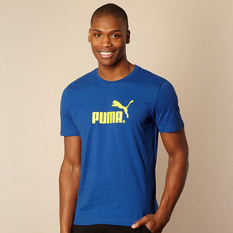 Puma - Blue logo t-shirt