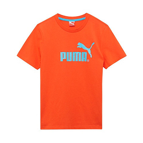 Puma - Boy+s red logo t-shirt