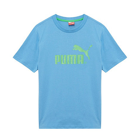 Puma - Boy+s light blue logo t-shirt