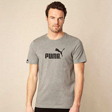 Puma - Grey classic logo t-shirt