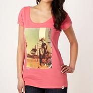 Pink beach photo t-shirt