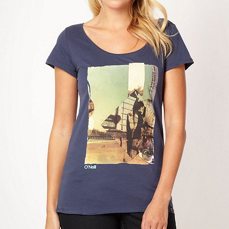 O+Neill - Navy photographic scoop neck t-shirt
