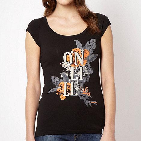 O+Neill - Black hibiscus logo t-shirt