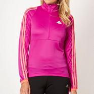 Adidas light purple 'Response' long sleeve cycling jersey