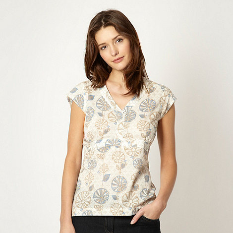 Weird Fish - Off white woven floral top