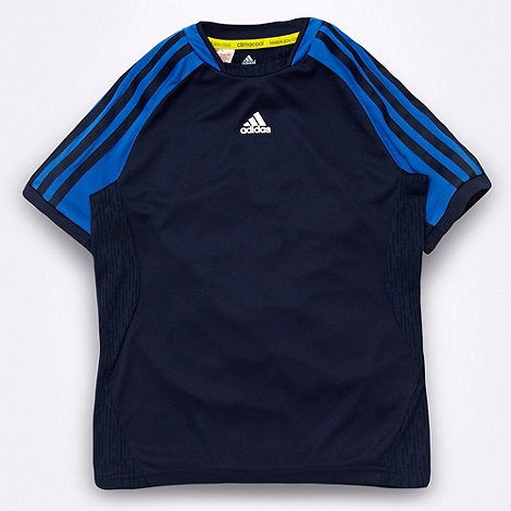 adidas - Boy+s navy +ClimaCool+ t-shirt
