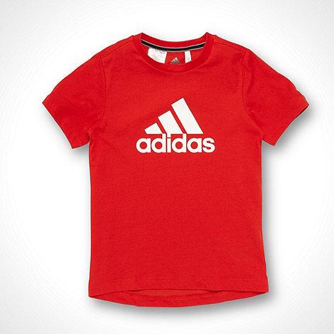 adidas - Boy+s red +Essential+ t-shirt