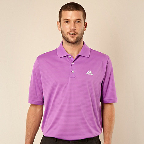 adidas - Light purple textured polo shirt