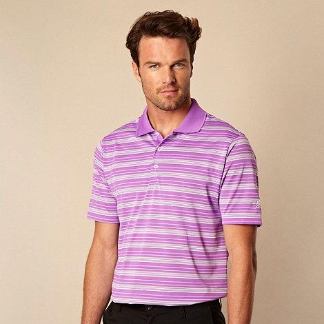 adidas - Purple striped polo shirt