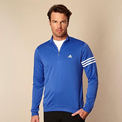 adidas - Blue half zip top
