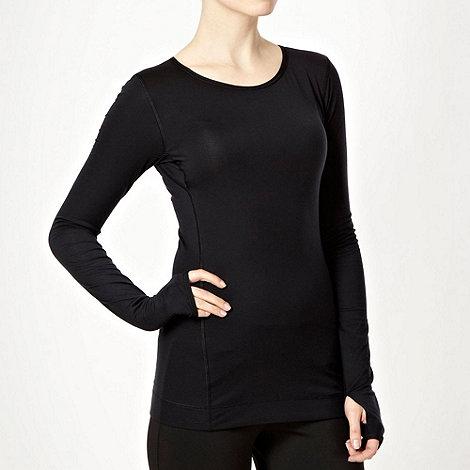 Nike - Black +Harmony+ slim fit top