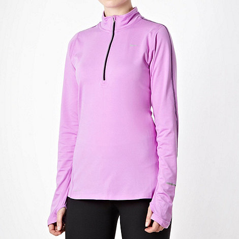 Nike - Light purple half zip top