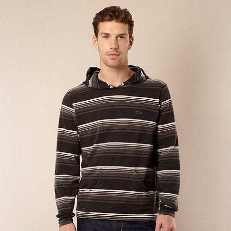 Oakley - Grey graduating striped hooded top
