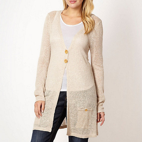 Weird Fish - Beige marble knit cardigan