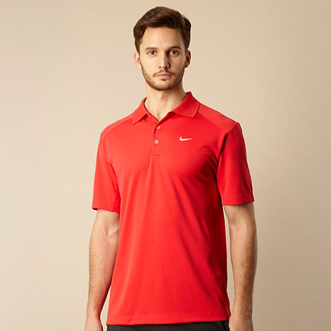 Nike - Red logo polo shirt