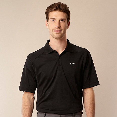 Nike - Black logo polo shirt