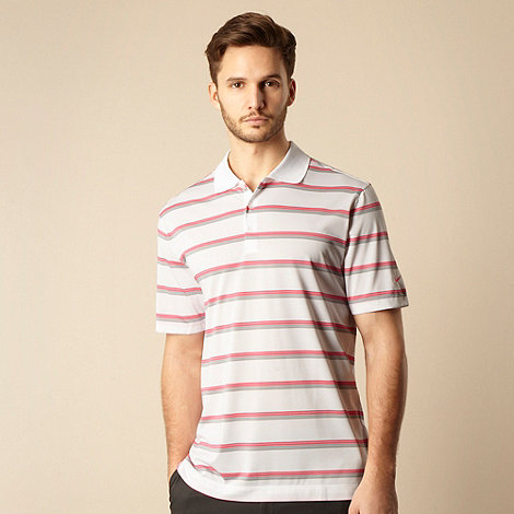 Nike - White striped polo shirt