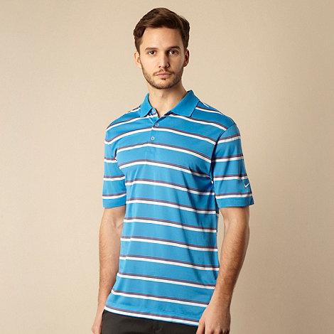 Nike - Blue striped polo shirt