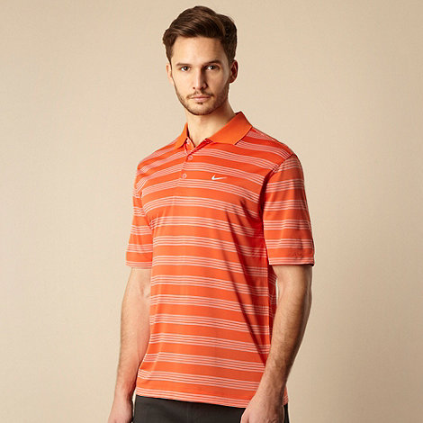 Nike - Orange multi striped polo shirt