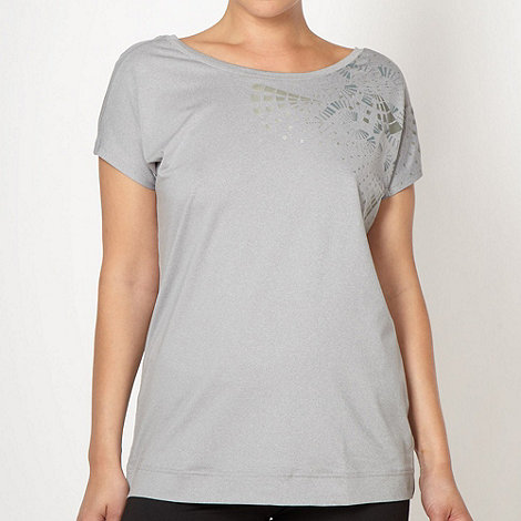 adidas - Grey metallic print t-shirt