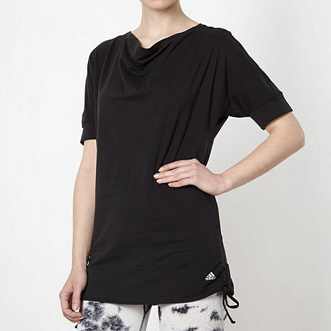 adidas - Black tie side tunic top