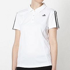 adidas - White 'Response' polo shirt