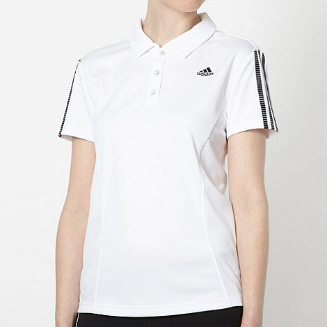 adidas - White +Response+ polo shirt