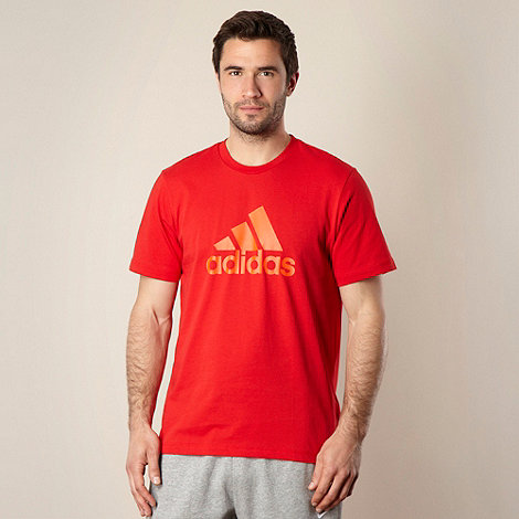 adidas - Adidas red logo t-shirt