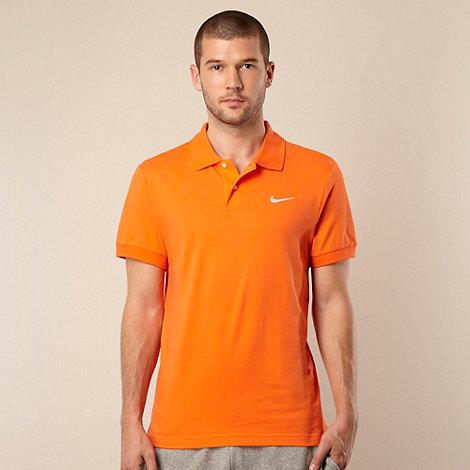 Nike - Orange logo polo shirt