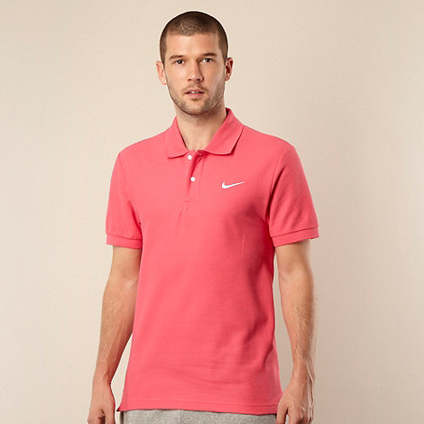Nike - Pink pique polo shirt