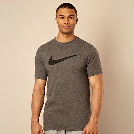 Nike - Grey logo printed t-shirt