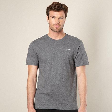 Nike - Grey plain logo t-shirt