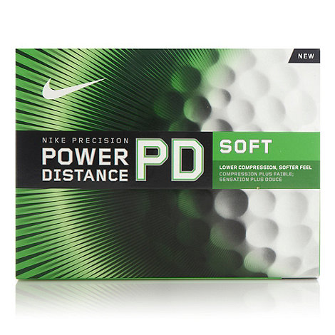 Nike - Set of twelve soft +Power Distance+ golf balls