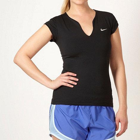 Nike - Black cut out neck t-shirt