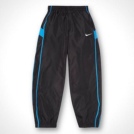 Nike - Boys+ black side trimmed jogging bottoms